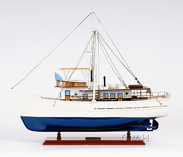 Dickie Walker wooden Model Ship, nautical decore