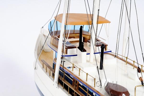 Dickie Walker wooden Model Ship, nautical decore