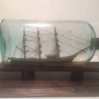 antique ship in a botttle