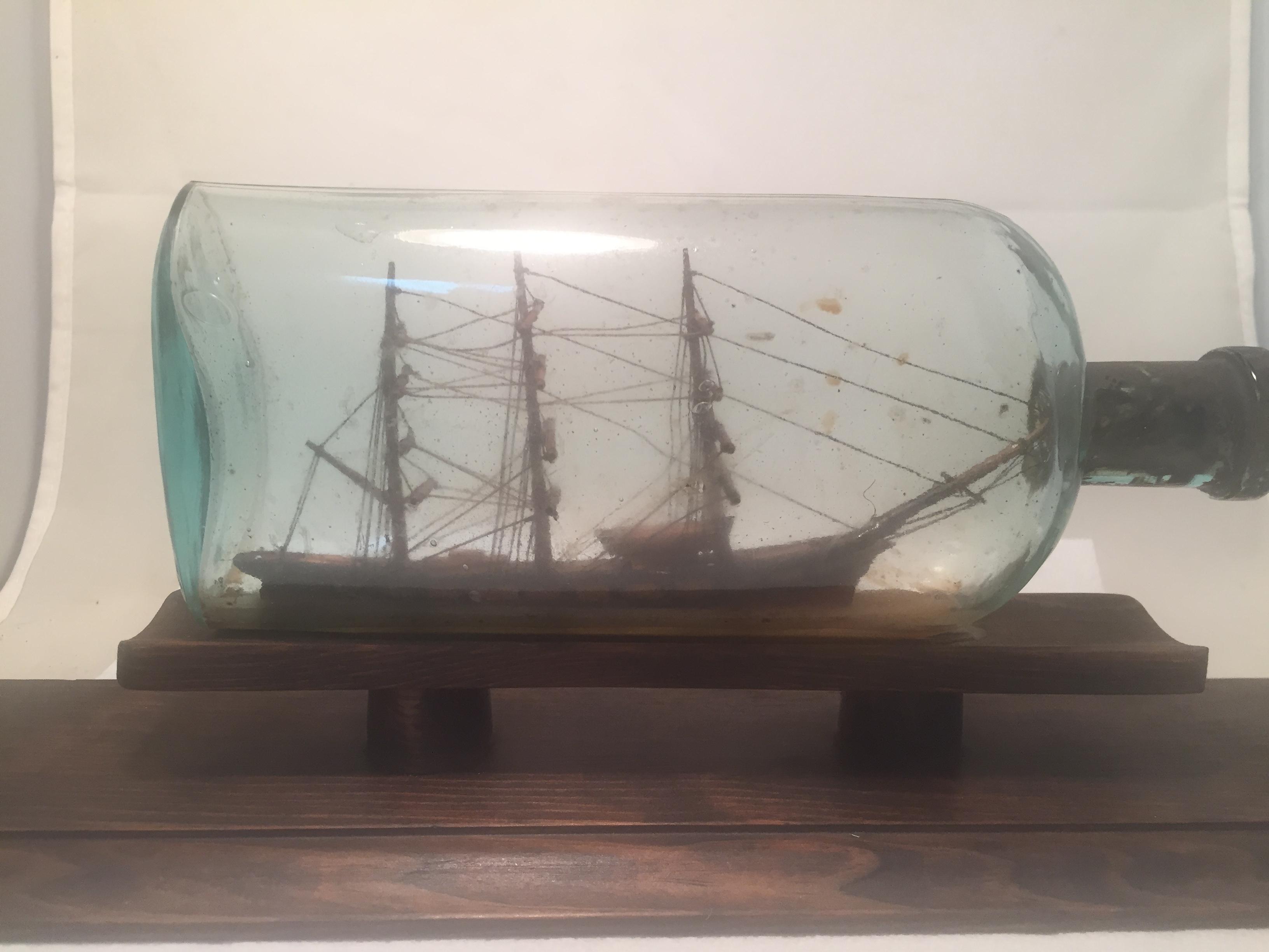 antique ship in a botttle