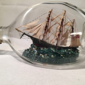 antiqque ship in a pinch bottle