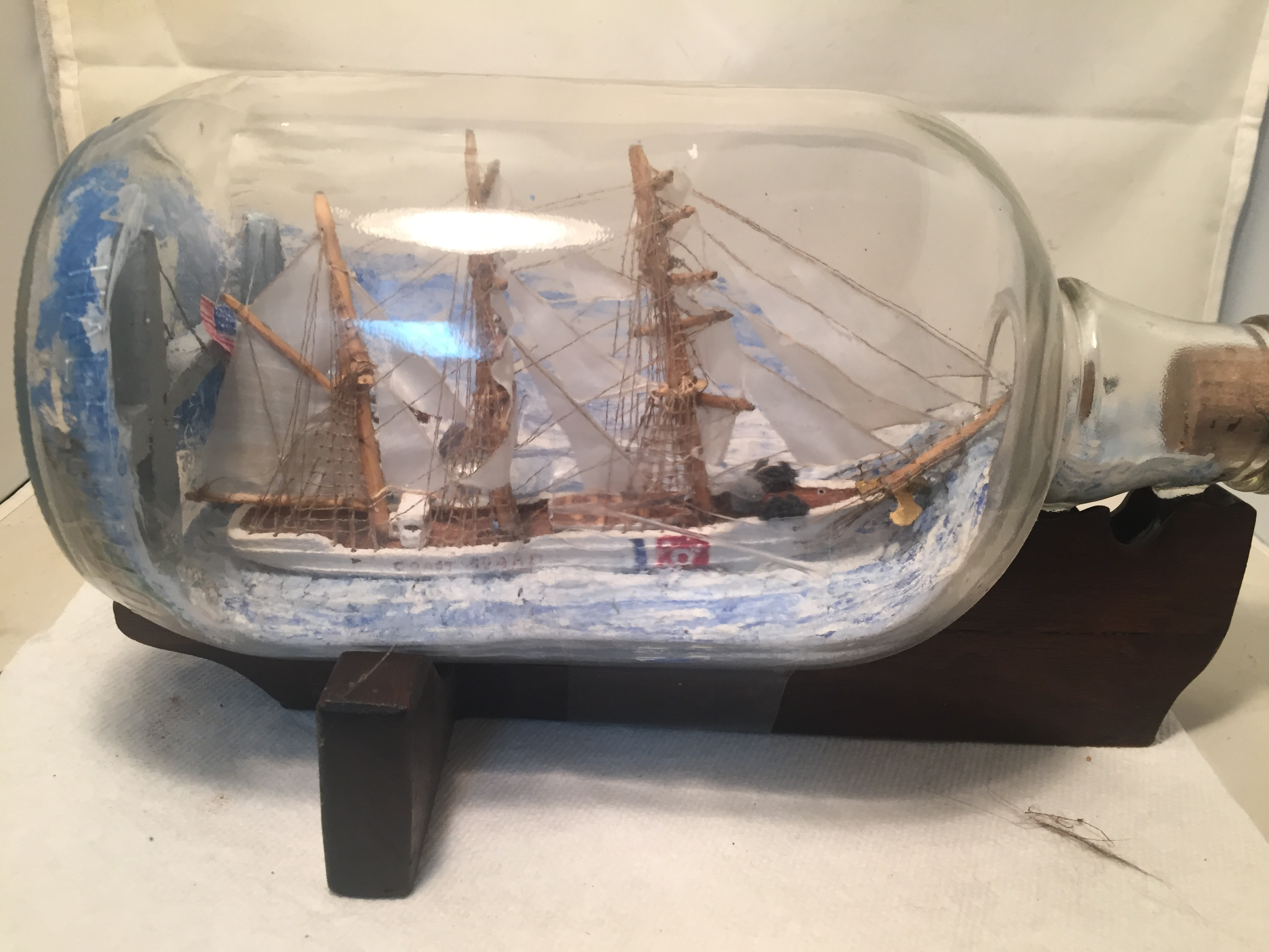 coast guard ship in a bottle