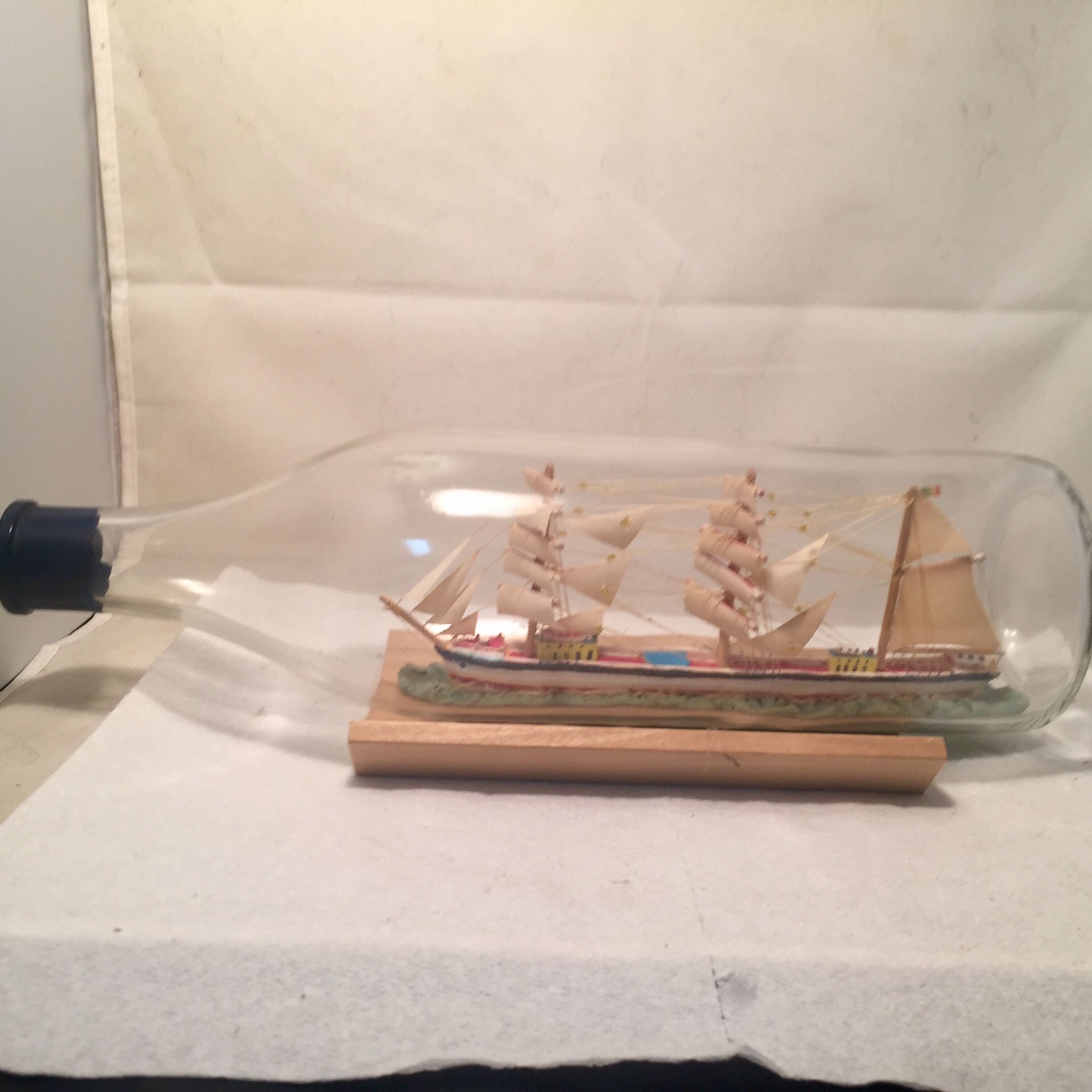 french ship in a bottle