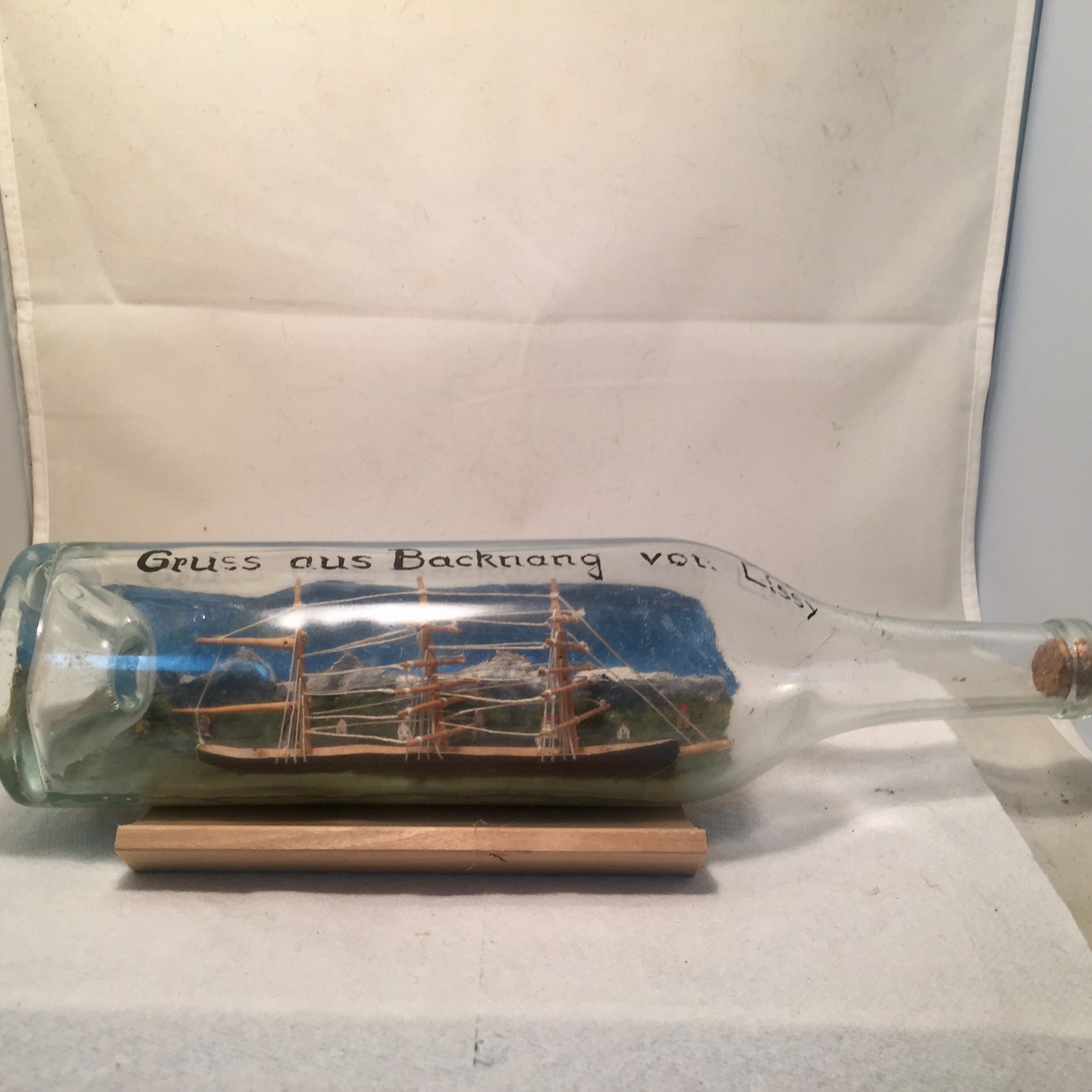 X German ship in a bottle