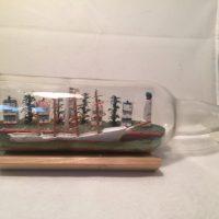 American Port Diorama Ship in a bottle