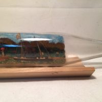 Early 1900's Ship in a bottle diorama