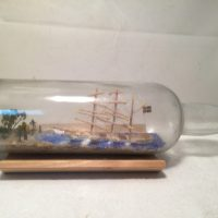 Swedish ship in a bottle antique