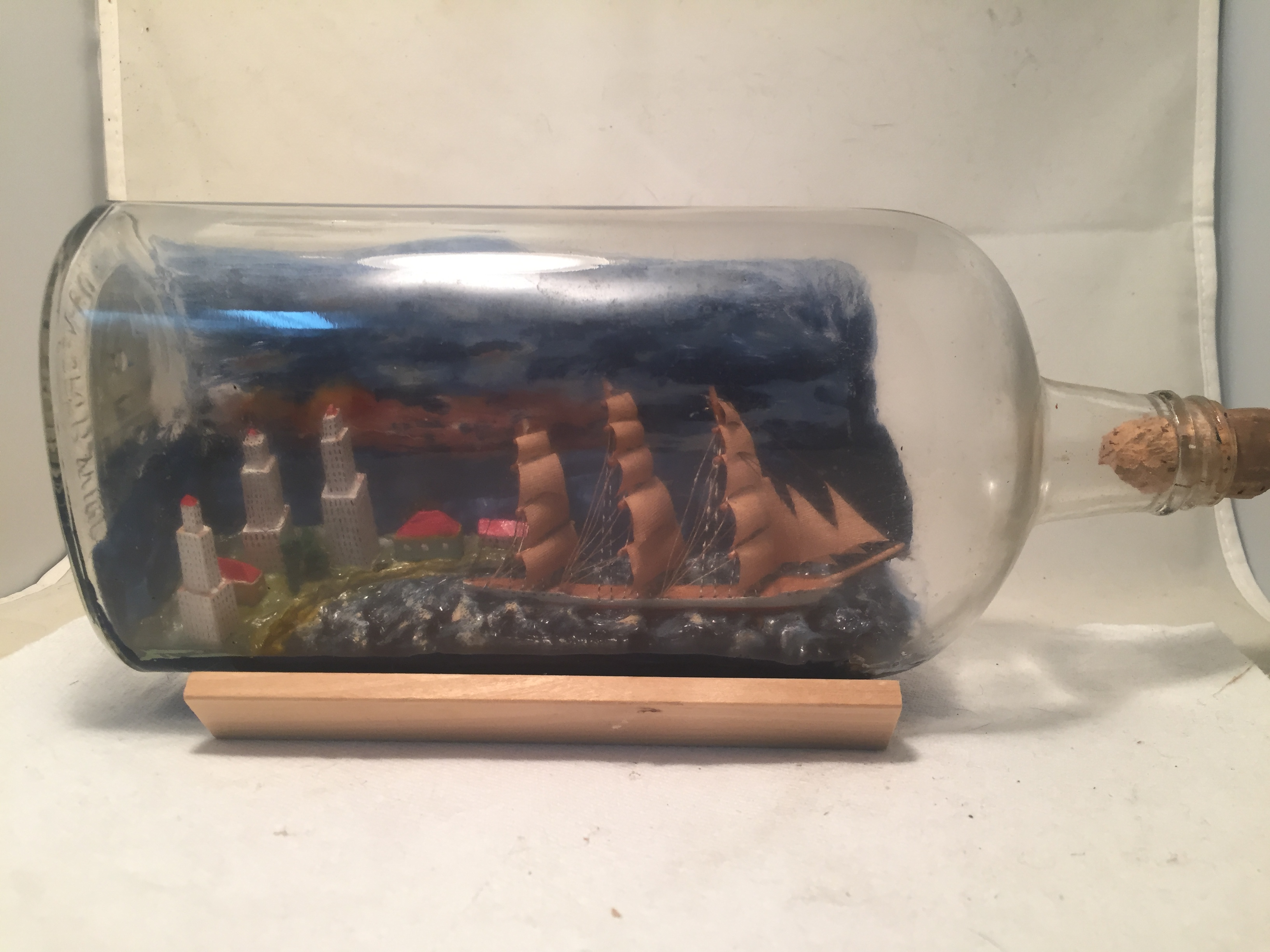 Ship in a bottle Diorama5