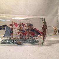 Swedish Frigate ship in a bottle