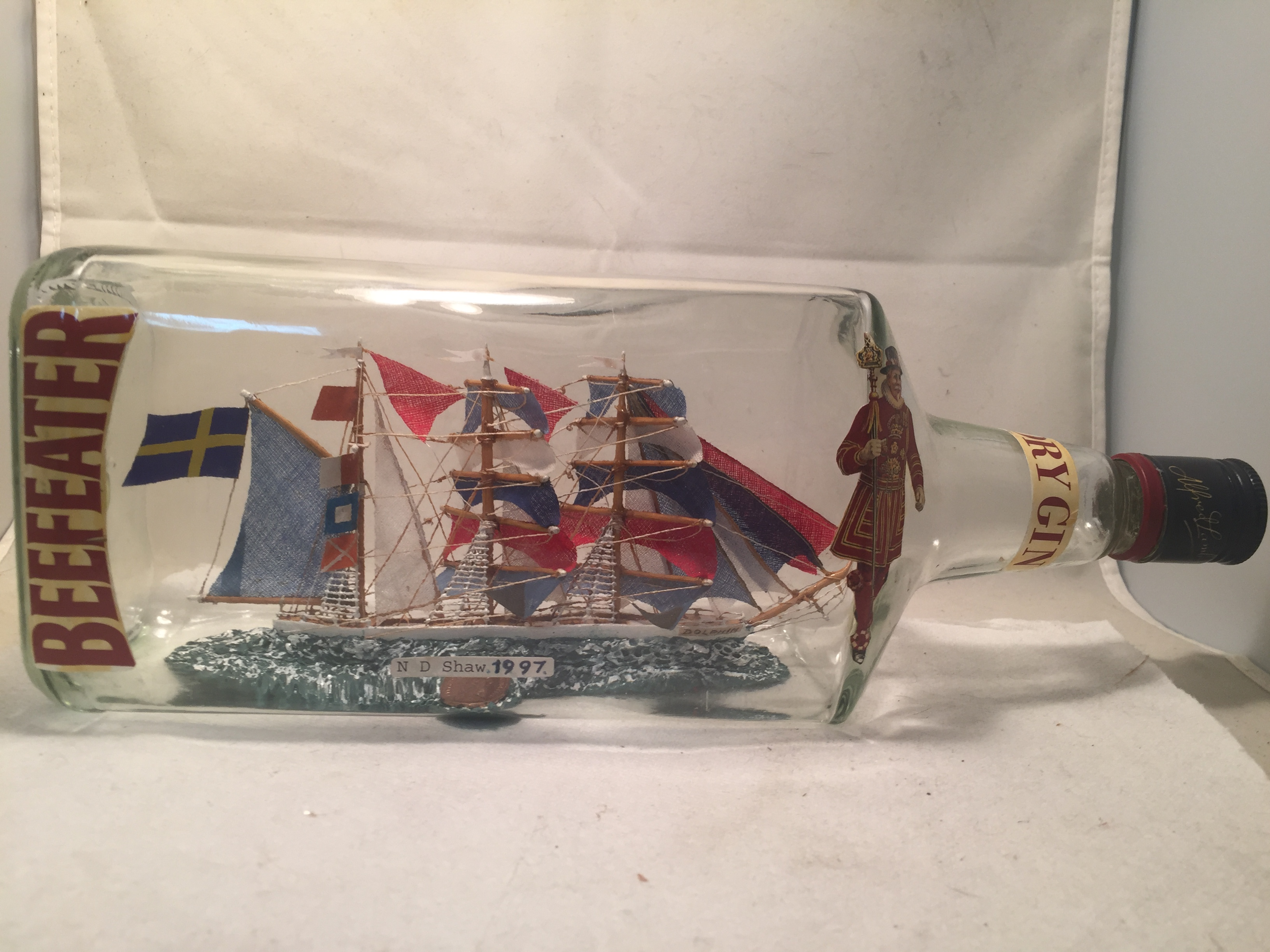 Swedish Frigate ship in a bottle
