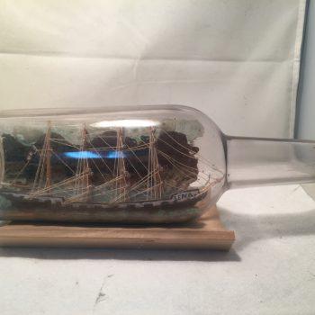 The Lena Diorama ship in a bottle