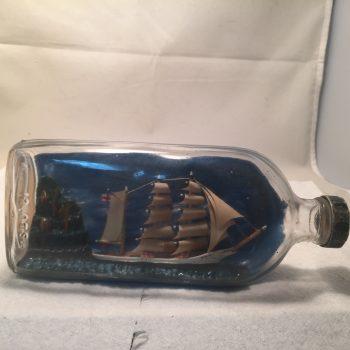 Pint ship in a bottle Antique