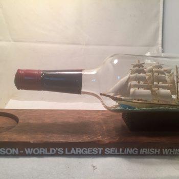 ship in a bottle Jameson Bar advertising decor