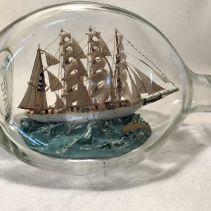 nautical decor ship ina bottle