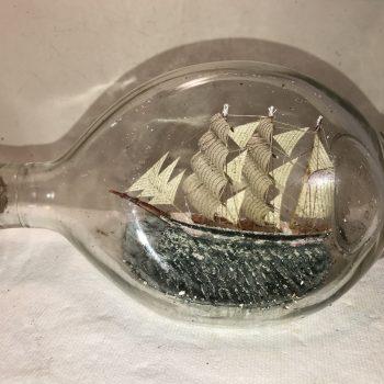 British Frigate in a Pinch bottle antique