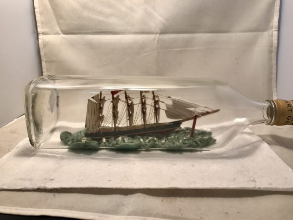 antique ship in a bottle