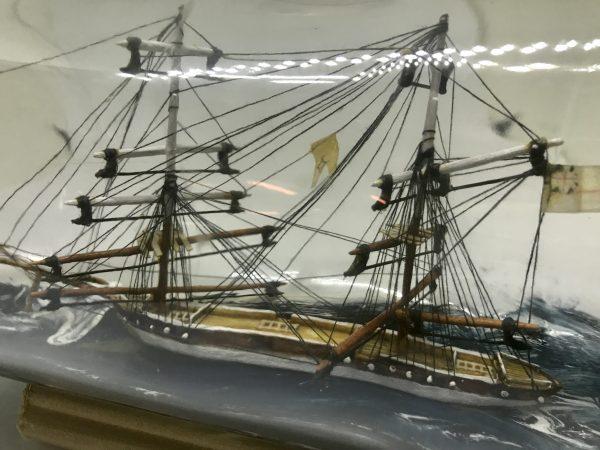 antique ship in a bottle