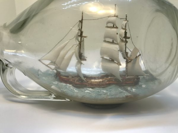 hand carved baeque in Tear shaped bottle