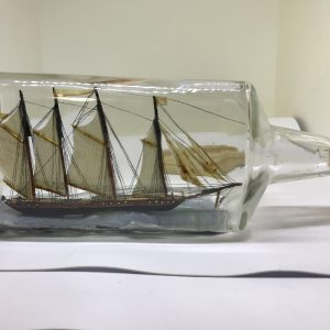 Private Collection Large schooner in bottle