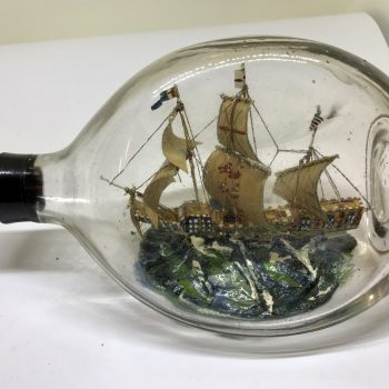 1580 Mary Rose English  Caravel ship in pinch bottle