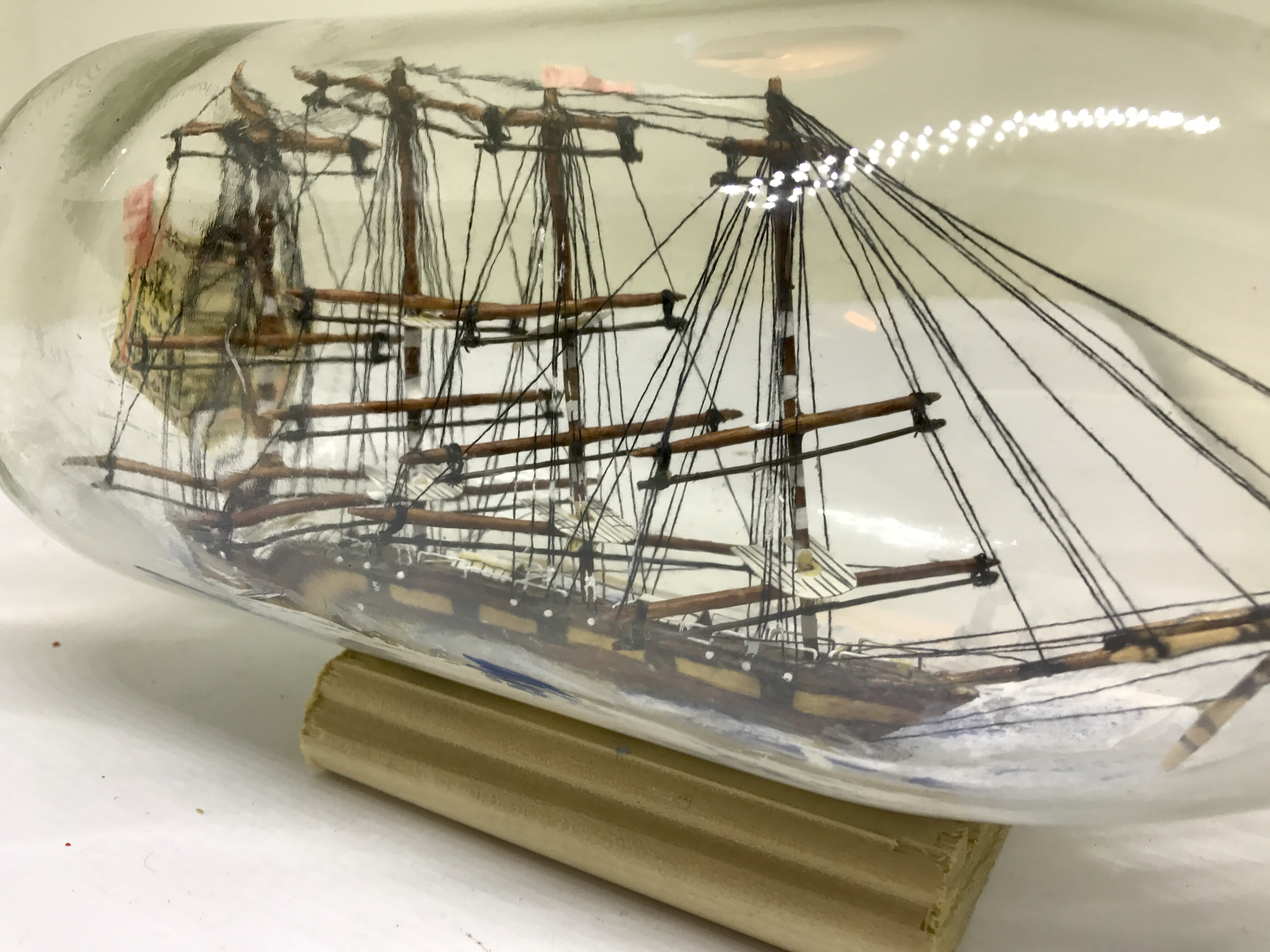 PRIVATE COLLECTION 4 MASTED SHIP IN A BOTTLE