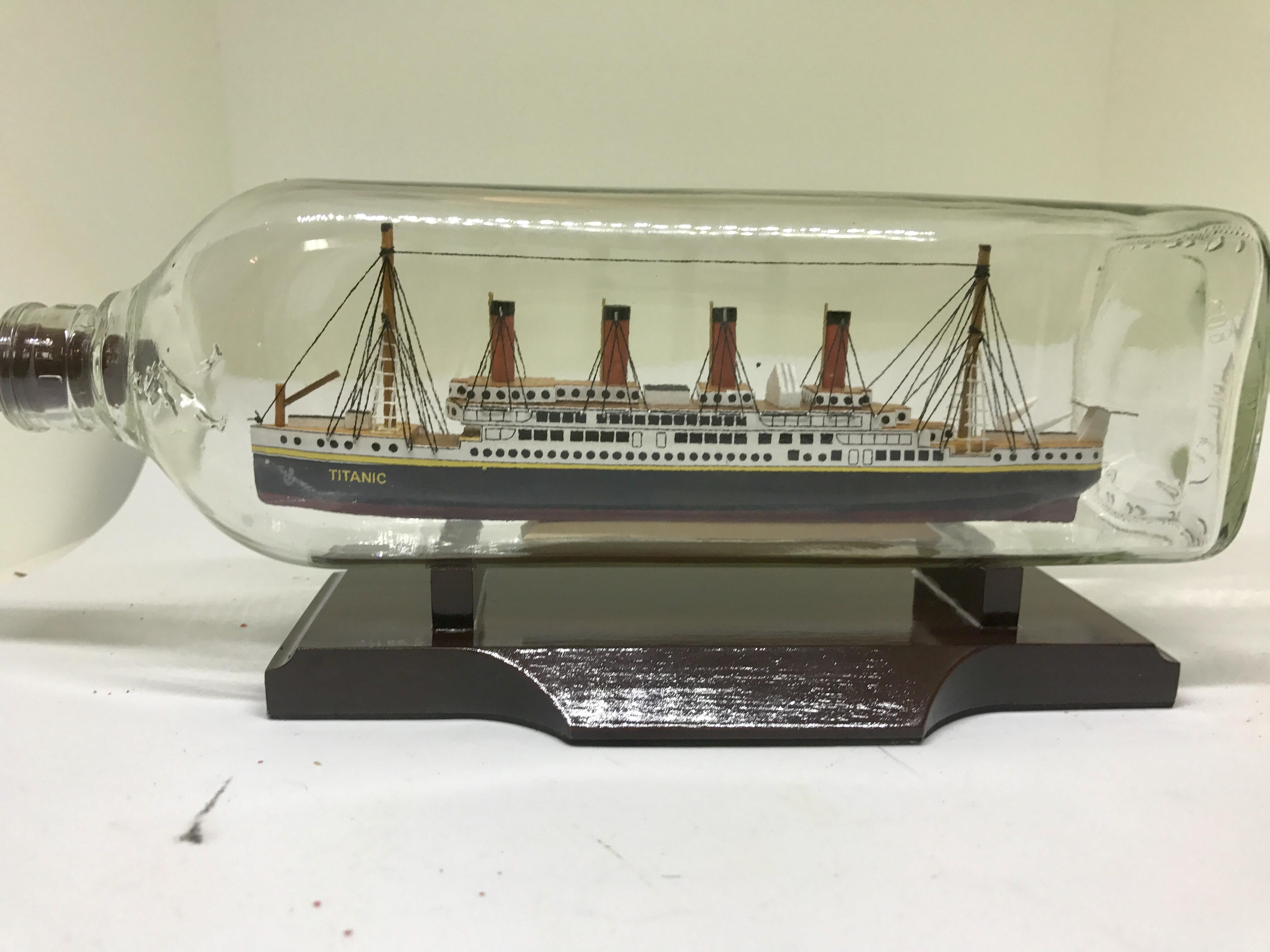 Titanic ship in a bottle