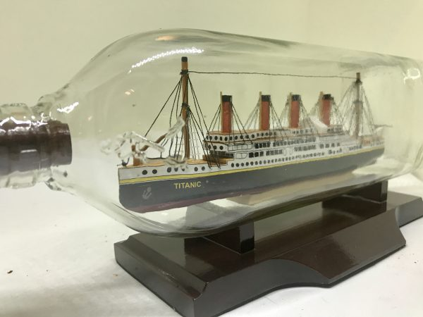 Titanic ship in a bottle