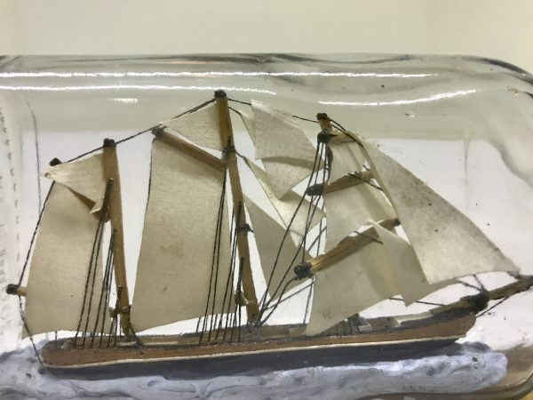 barque ship in a bottle