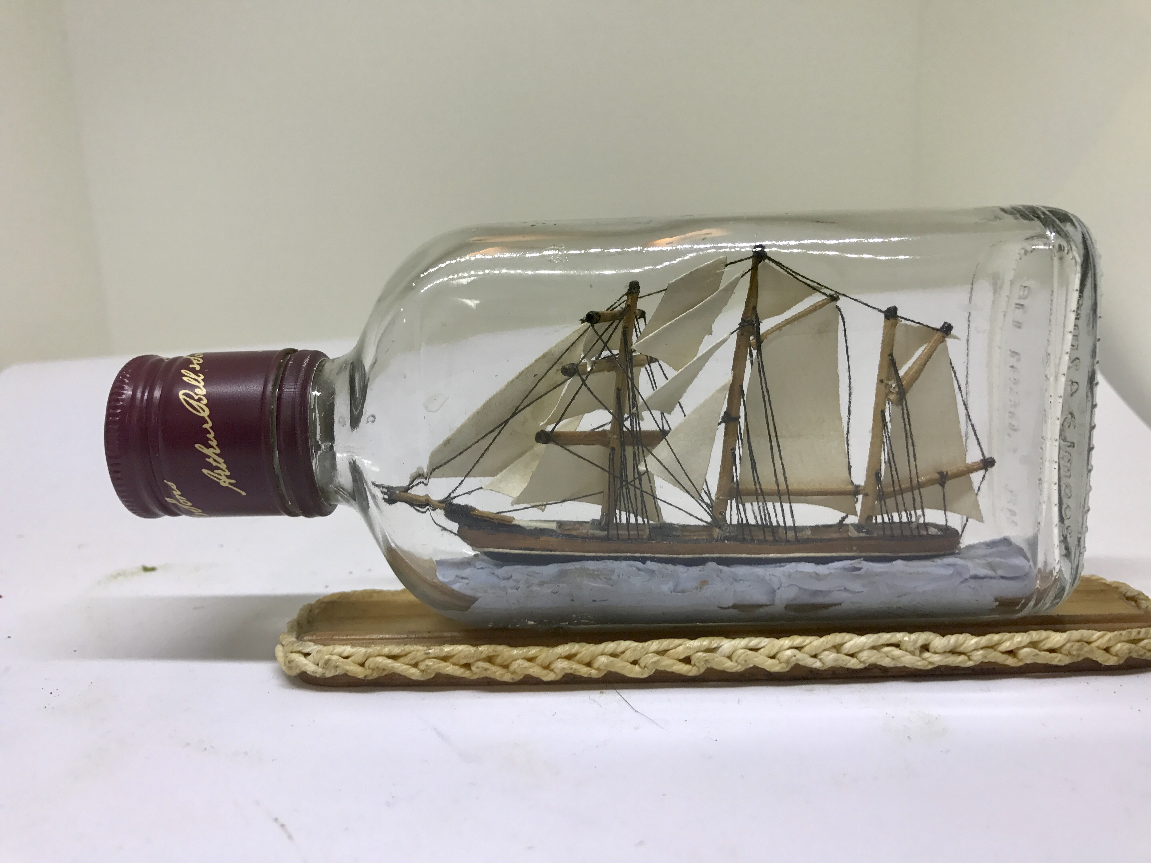 how to make a ship in a bottle at home