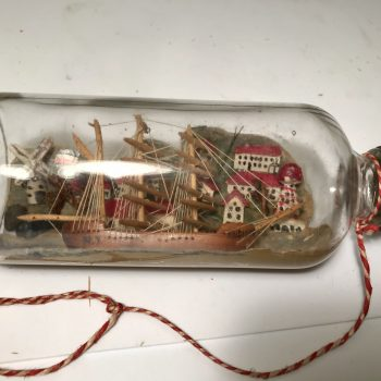 Small ship in bottle diorama made by POW