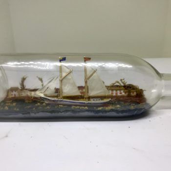 Dual masted Schooner, The Palma ship in bottle