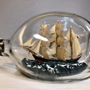 3 masted Barque in a pinch bottle