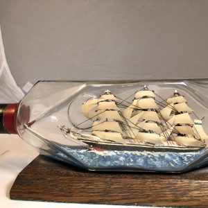 3 masted Frigate in diamond bottle