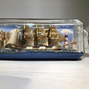 WWII POW ship in a bottle