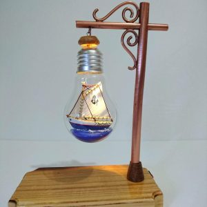 Ship in a bulb lamp