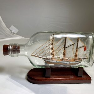 3 masted Barque in half pint bottle