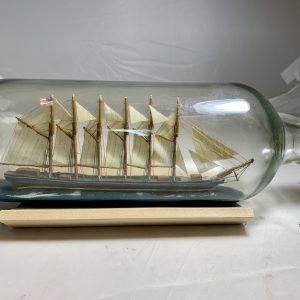 Great Western class Schooner in a bottle
