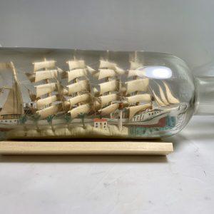 Antique1920's 3 ships in a diorama