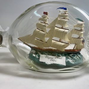 The Flying Cloud fully rigged in pinch bottle