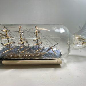 Museum Quality Vintage ship in a bottle 1810 HMS Valiant 24 Guns Built Southampton