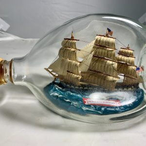 Old Ironsides USS Constitution in Pinch bottle